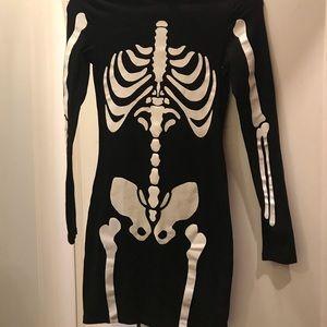 H&M Divided Body Con Skeleton Dress